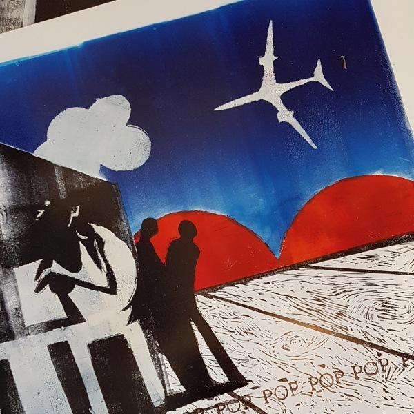 Print by Roger Morris, Taranaki